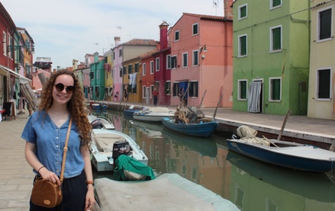 Pictured: Janelle Dempsey in Burano, Italy